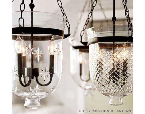 Pottery Barn Hundi Lanterns Home LightingKitchen LightingLantern PendantCut GlassLight