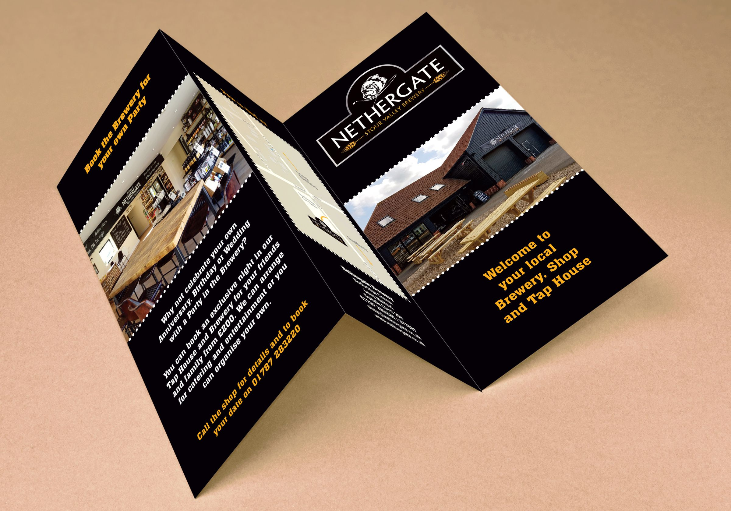 Nethergate Brewery Tri Fold Leaflet Digital Printing Services Digital Prints Printing Business Cards
