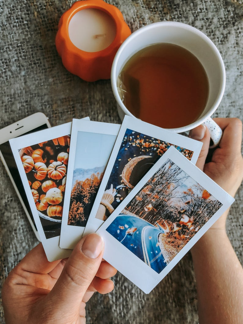 Custom Instax Mini Photos | Personalized Instant Picture Prints | Dorm Room | College Girl Bedroom Decor | Polaroid Style | Chic Aesthetic