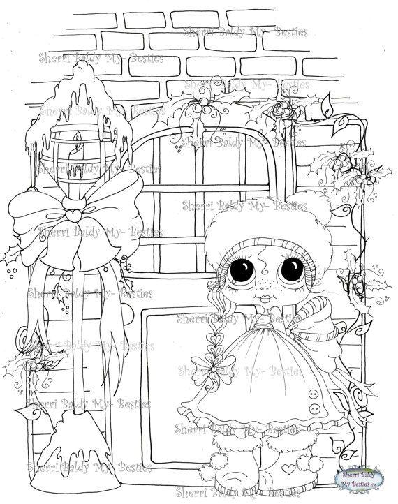 DESCARGA instantánea Digi sellos ojo grande cabezona muñecas Digi Bestie IMG962 por Sherri Baldy