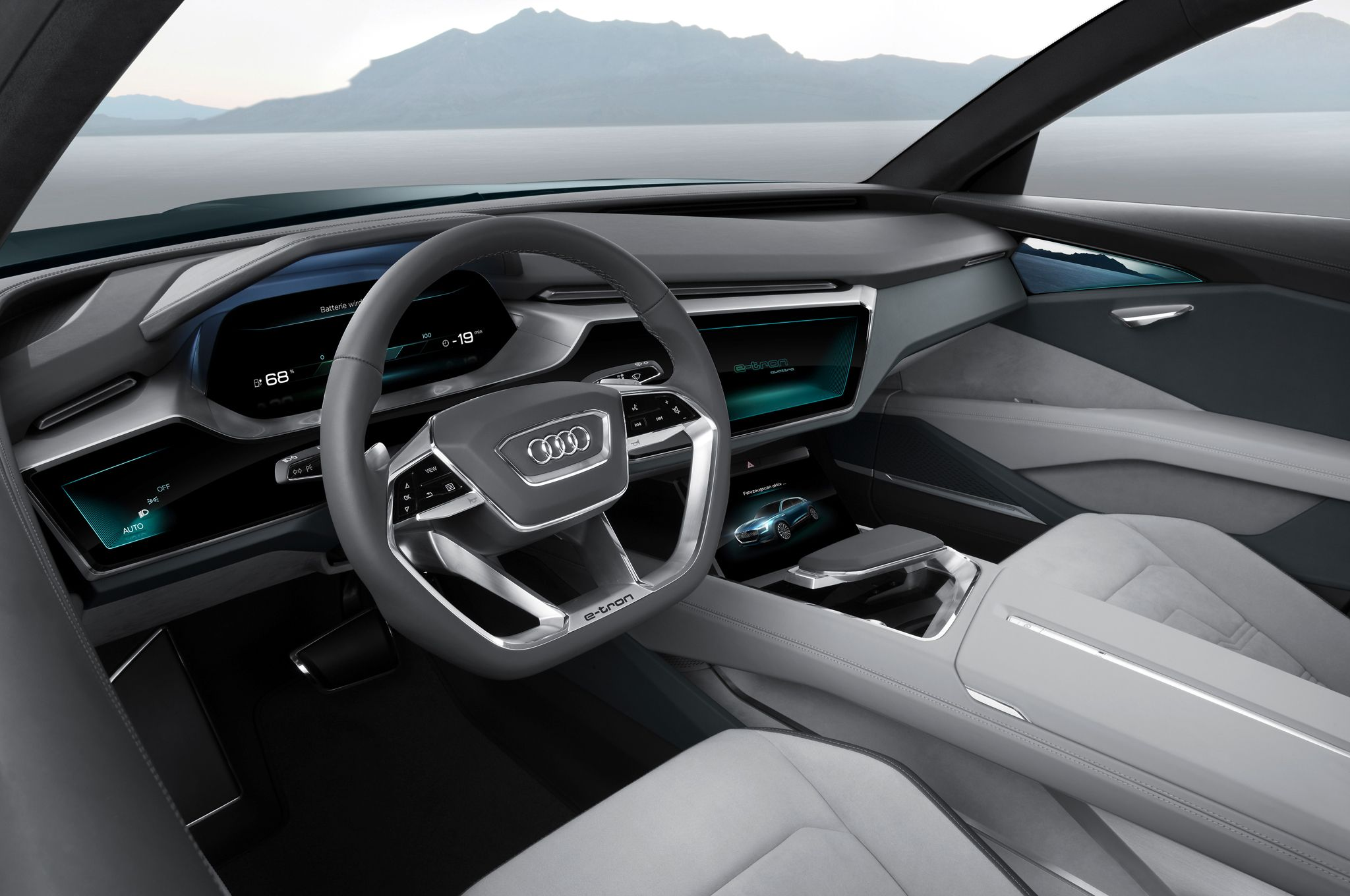 Audi E Tron Quattro Concept Interior Jpg 2048 1360 Audi E Tron Audi Interior E Tron