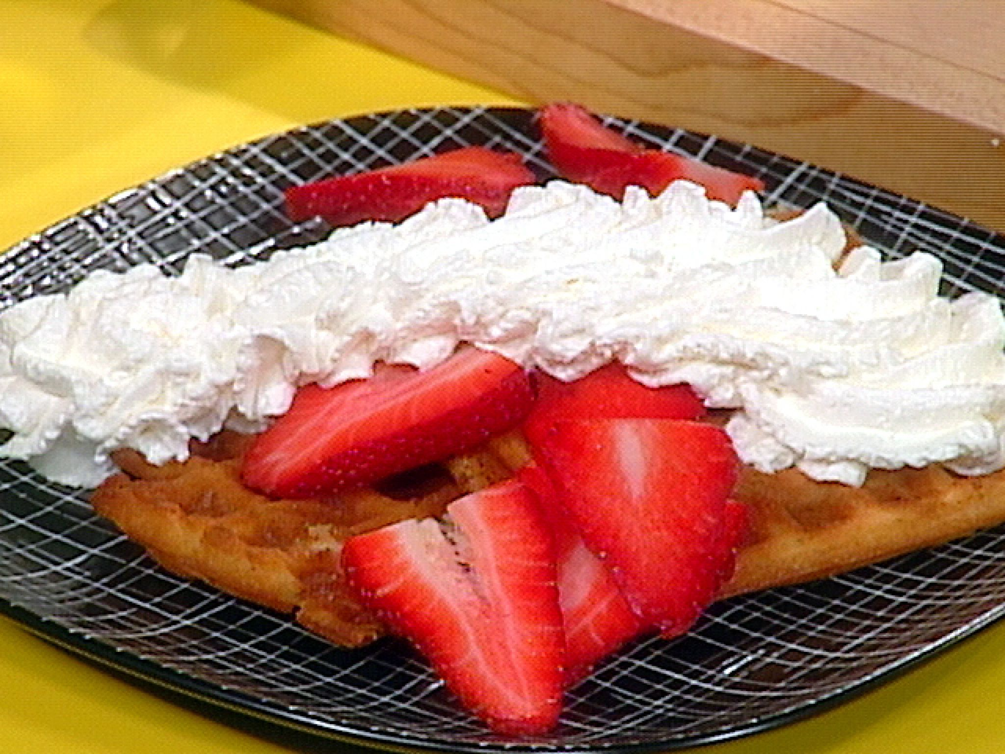 Sugar Waffles with Berries and Whipped Cream Recipe