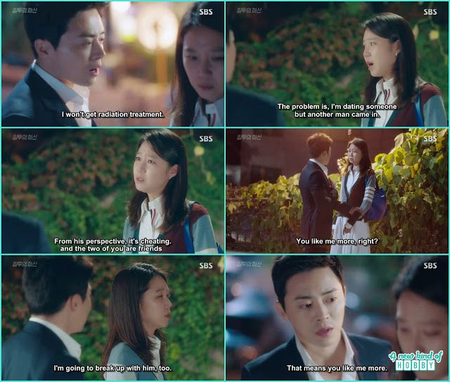 na ri told she will breakup with jung won too - Jealousy Incarnate - Episode 15