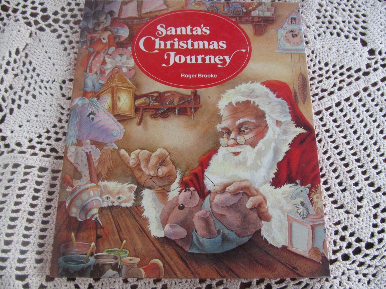 Santas Christmas Journey Retro Childrens Book Olde World Santa. $15.00, via Etsy.