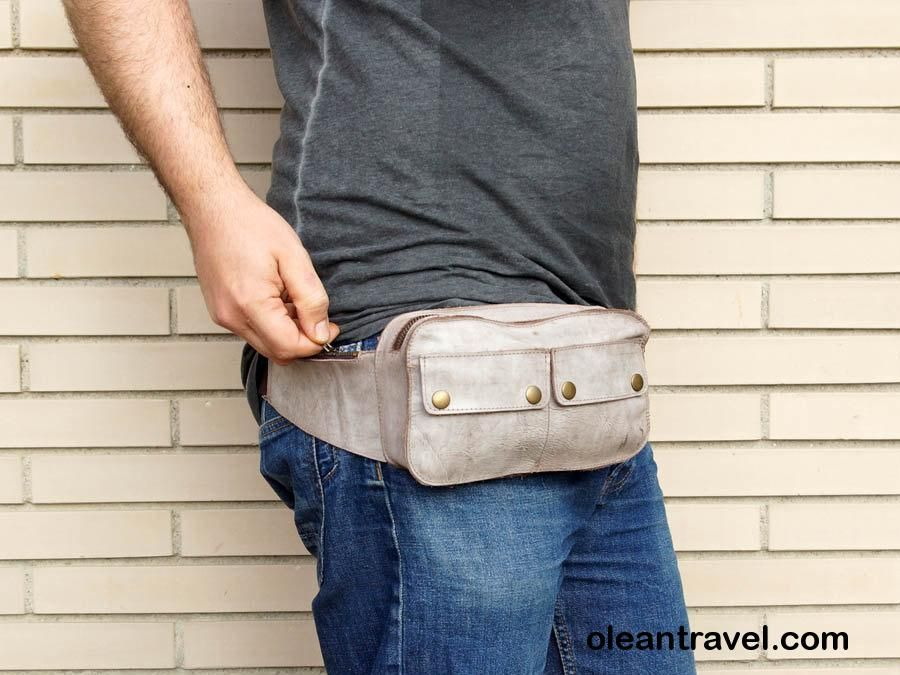 Leather funny pack // black leather bum bag // waist pack holster // Festival bag // travel bum bag - http://oleantravel.com/leather-funny-pack-black-leather-bum-bag-waist-pack-holster-festival-bag-travel-bum-bag