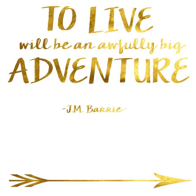 Amazing Quotes To Live By: To Live Will Be An Awfully Big Adventure