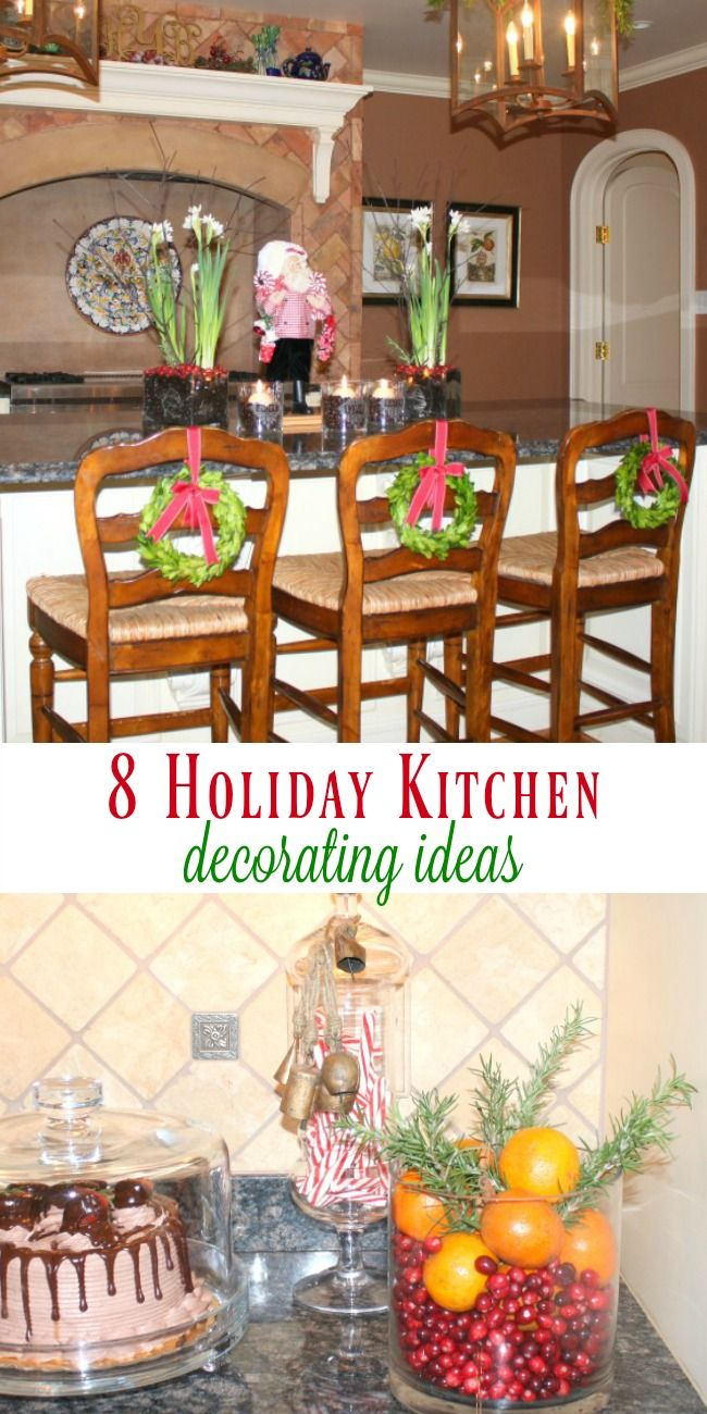 8 kitchen holiday decorating ideas to steal easy diy christmas decor diy christmas on kitchen xmas decor id=16927