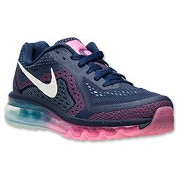 new products fd8d2 be8ff Womens Nike Air Max 2014 Running Shoes Mid NavySailPink GlowGlacier Ice  Finish Line
