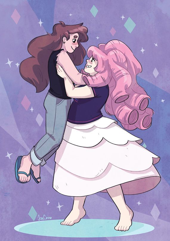 Steven Universe Print Fanart Greg And Rose Romance Cartoon