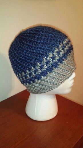 Crochet men's beanie