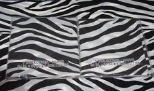 (2) ZEBRA PRINT PLASTIC TABLE COVERS [54in x 84in] SAFARI TABLECLOTH PARTY PROP