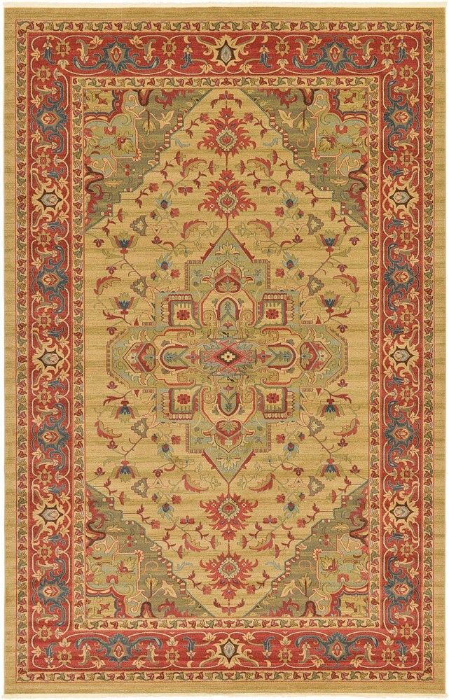 Heriz Tan Area Rug