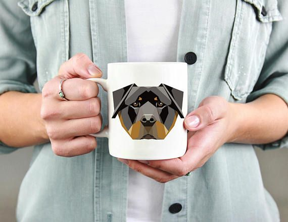 Rottweiler Custom Dog Coffee Mug. Personalized by TheWooftique