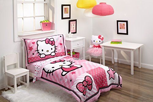 Sanrio Hello Kitty Sweetheart 4 Piece Toddler Bec Set  Hello Captivating Toddler Bedroom Set Design Ideas