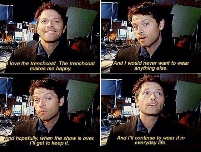 Misha and the trench coat
