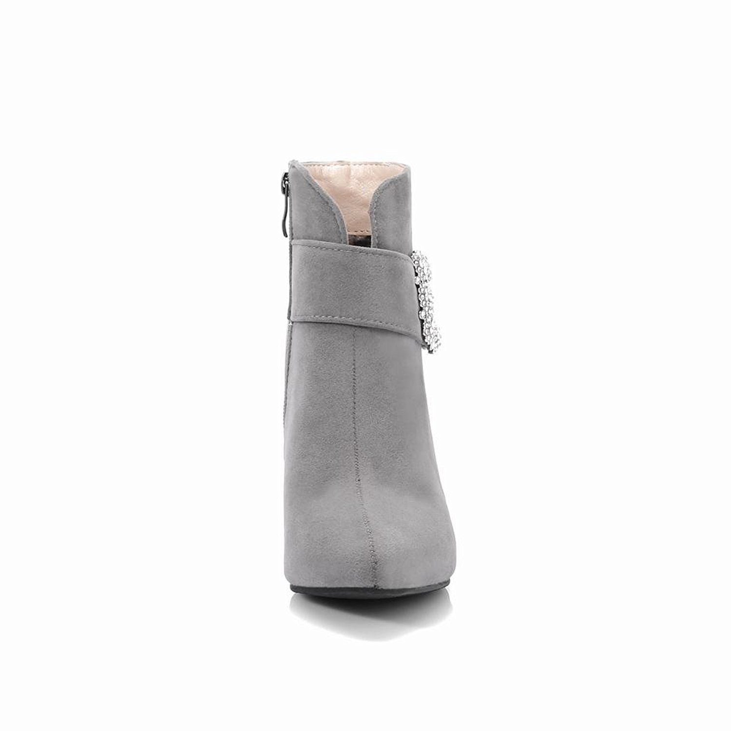 468869c28e4 Latasa Women's Pointed-toe Kitten Heel Ankle Boots -- Visit the ...