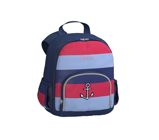 Fairfax Navy Multi Stripe Backpack Backpack Striped