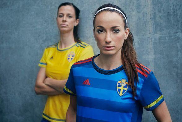 Fútbol femenino: Adidas presenta las nuevas camisetas de Suecia