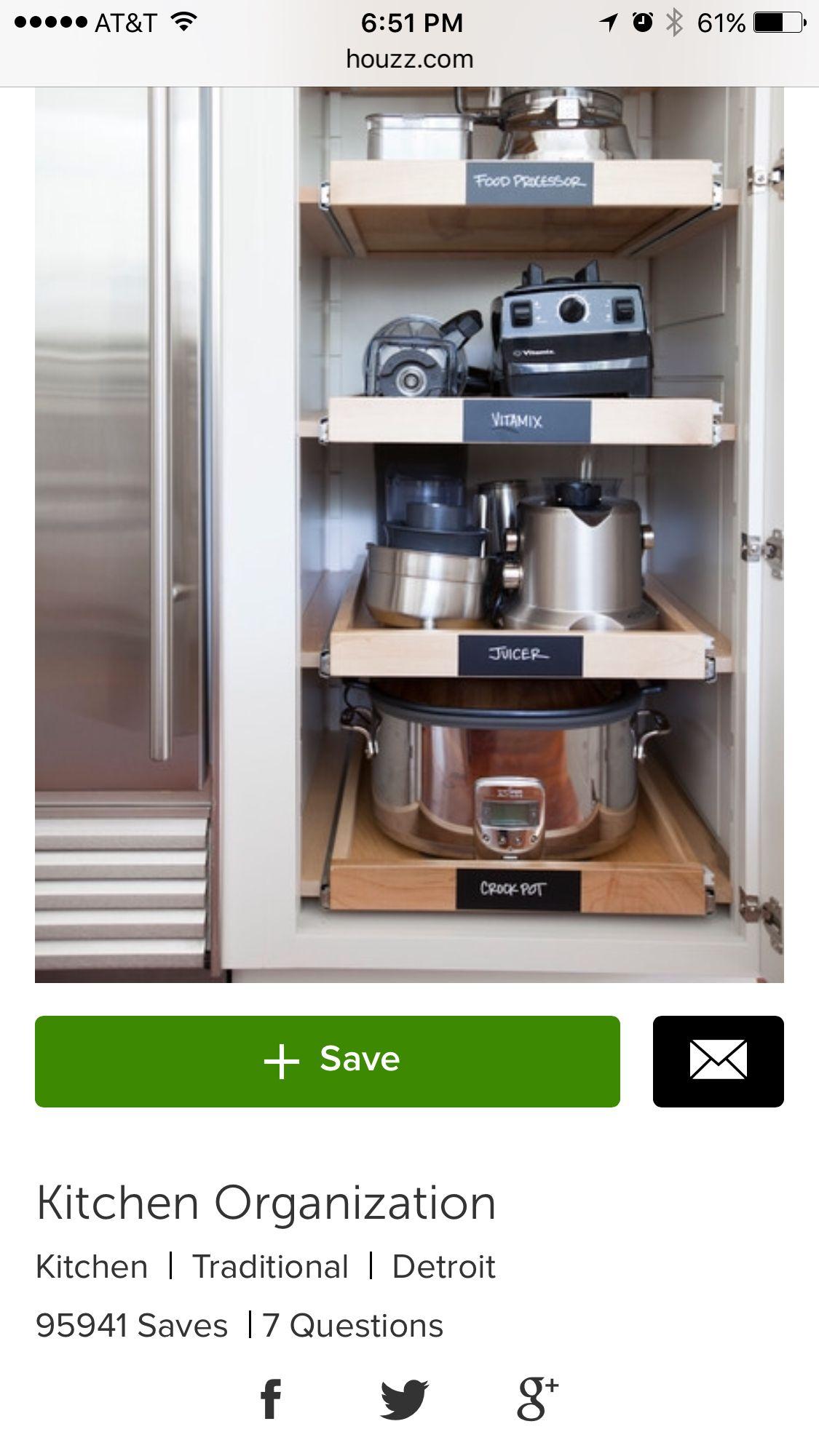 Best Small Appliance Storage Kitchen Pinterest Storage 400 x 300