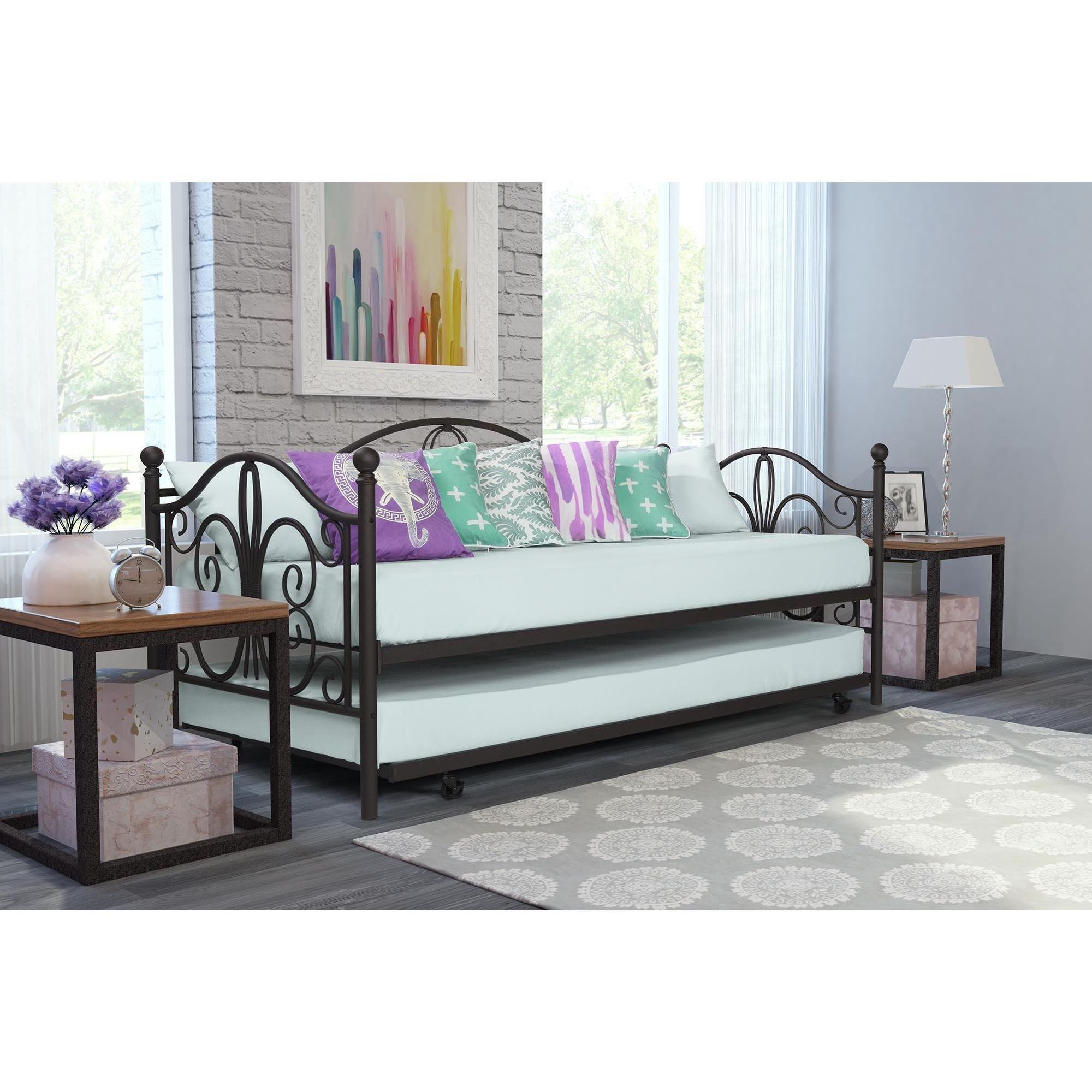 Dhp Ay Metal Daybed And Trundle Ping Great Deals On Beds