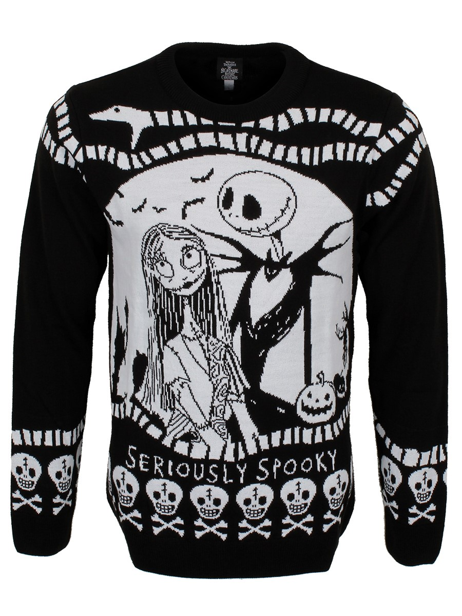 Nightmare Before Christmas Seriously Spooky Men's Knitted
