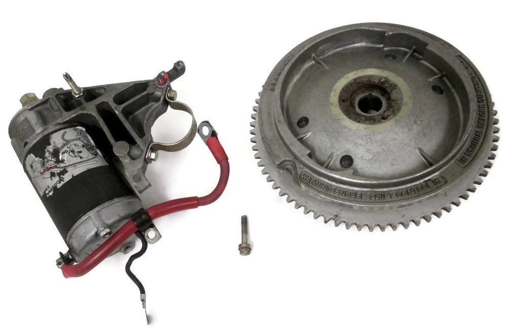Johnson Evinrude Outboard Electric Start Conversion Kit 582017 0582017 392133 0392133 320012 Omc Flywheel Electricstart