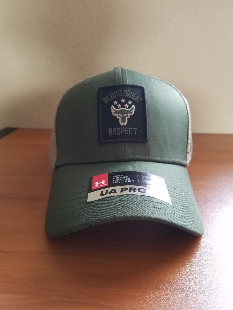 4ff43d2c7 Under Armour x Project Rock Mesh Snapback Hat Blood Sweat Respect ...