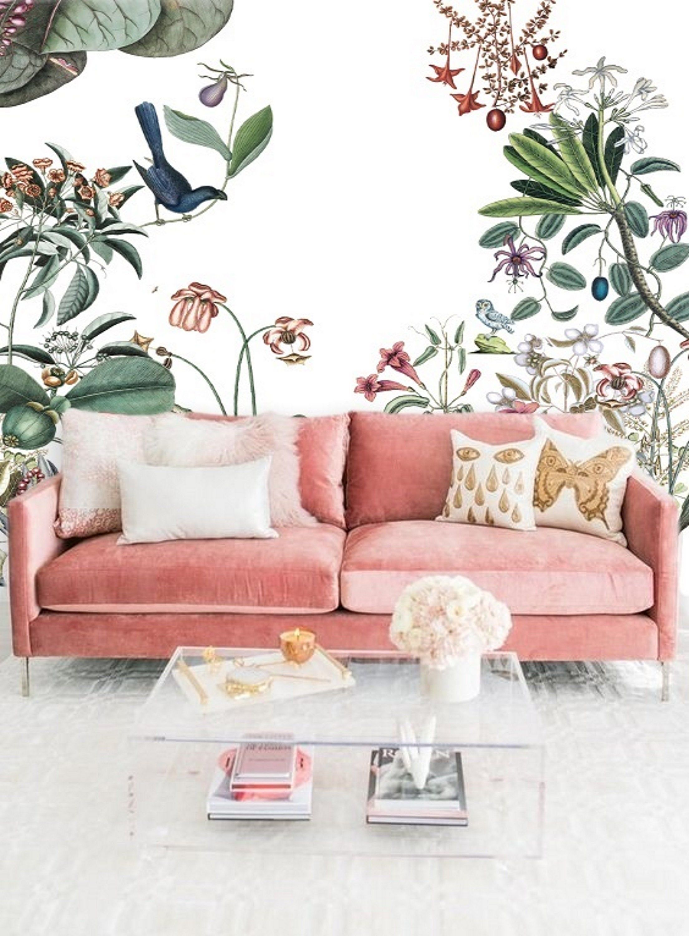 Wall Paper Large Floral Wallpaper Mural Remove Wallpaper Peel Etsy Large Floral Wallpaper Mural Wallpaper Removable Wallpaper