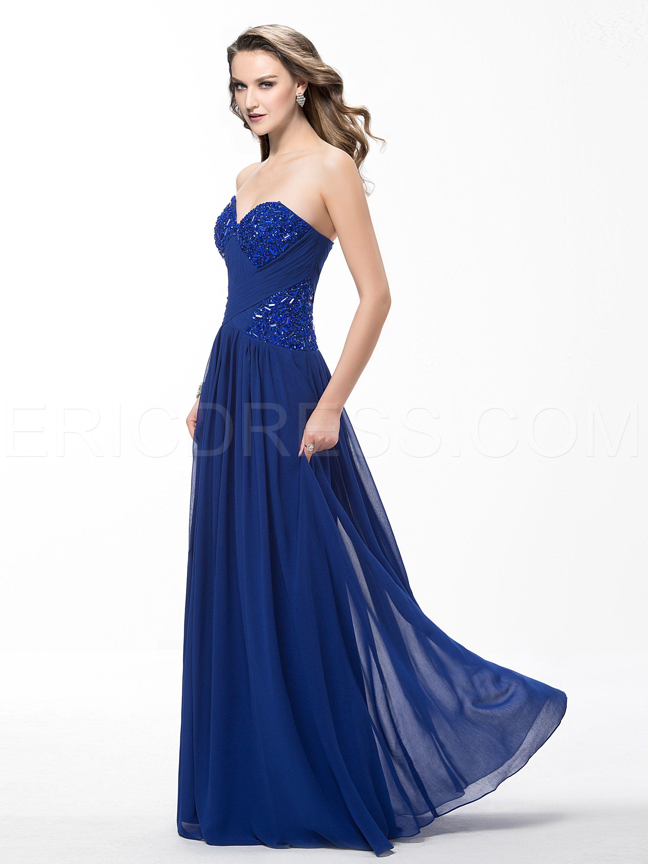 Elegant bespoke aline floor length sweetheart ruffles prom dress