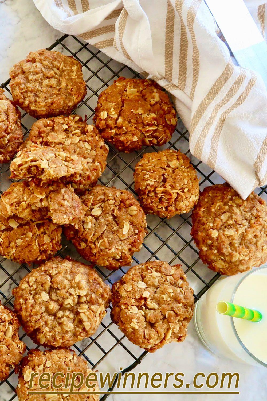 Anzac Biscuits Recipe Anzac Biscuits Oat Biscuit Recipe Gourmet Recipes