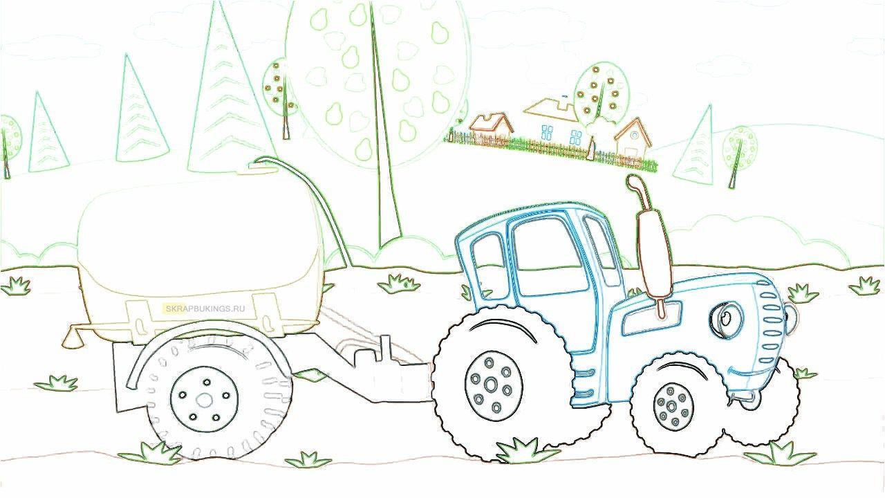Синий трактор | Картинки, Мультфильмы и Раскраски