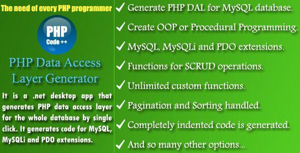 Php Dal Generator Source Code Generation
