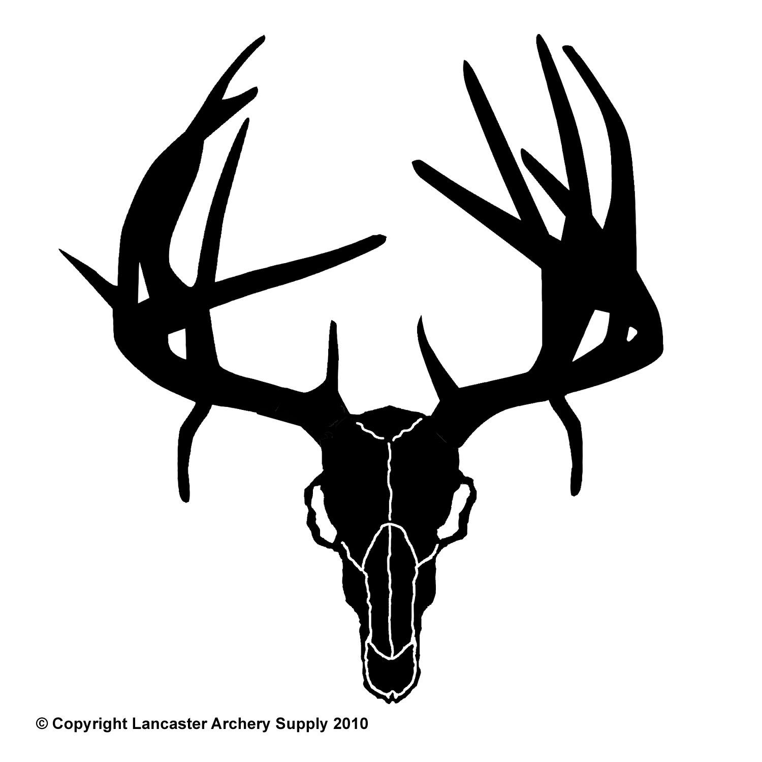 Dear Skull | Outdoor Decals Small Non-Typical Deer Skull ...