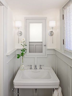 1 2 Bath Wall Ideas Powder Room Small Bathroom Inspiration Amber Interiors Design