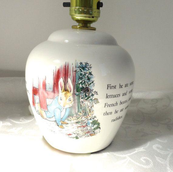 Beatrix Potter Peter Rabbit Lamp From, Wedgwood Peter Rabbit Lamp