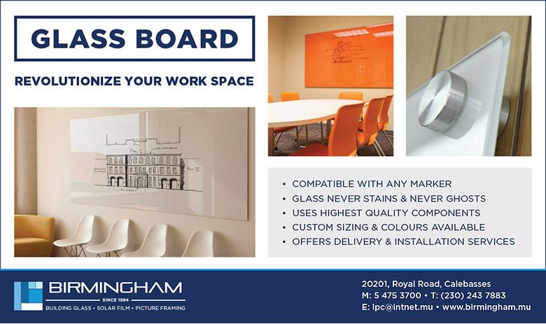 Birmingham Glass (M'tius) - GLASS WRITING BOARD. Tel: 5729 4110