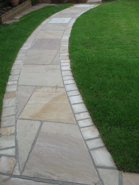 curved path