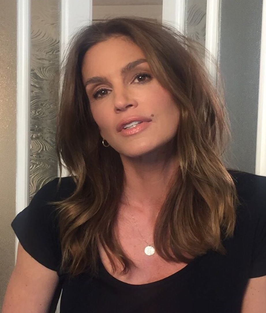 The incredible Cindy Crawford wearing her Hot Lips shade, Super