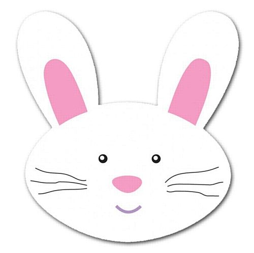 Bunny Head Outline Printable Easter Bunny Cutout 20cm Code