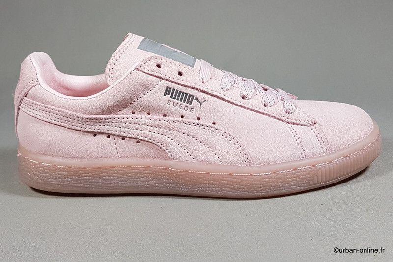 3ceb0669bb4f puma suede mono iced rosa