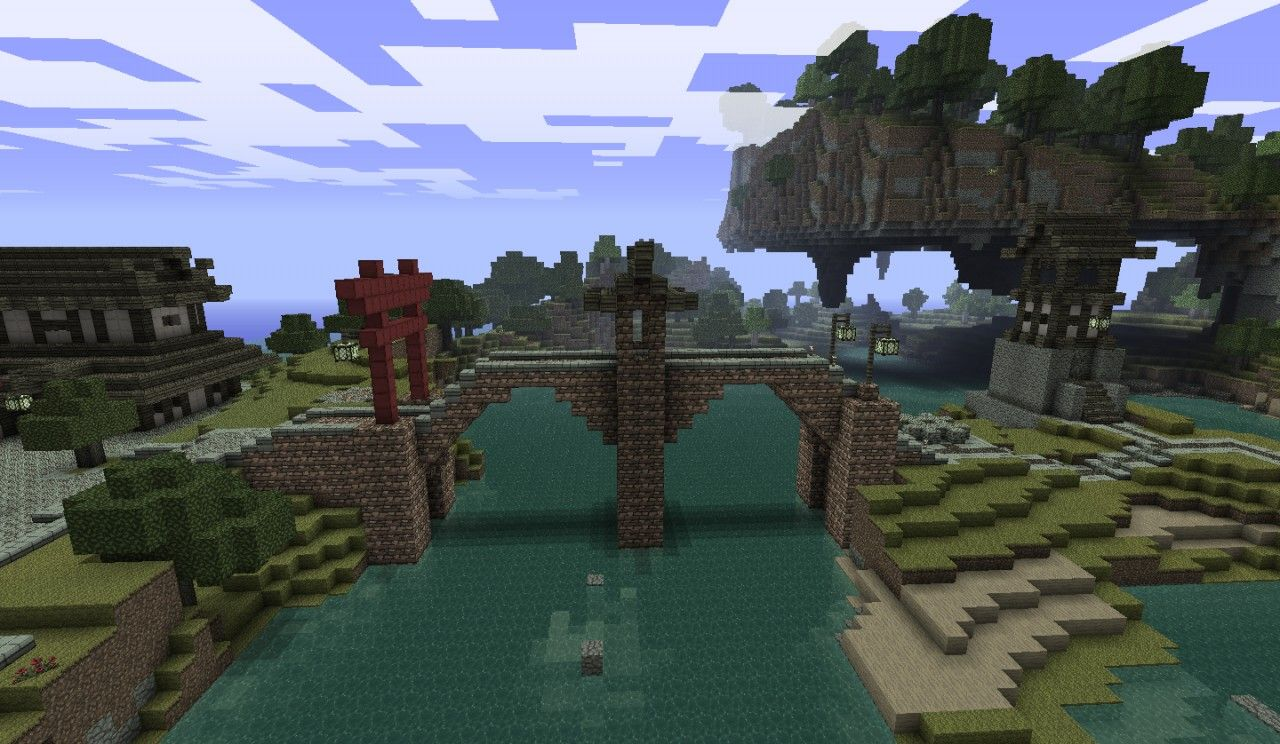 the minecraft japanese bridge project was contributed by synthgod a simple japanese bridge schematic