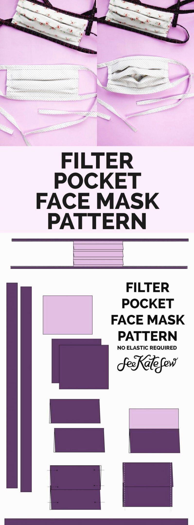 Wie zu nähen eine gesicht maske mit filter tasche nicht