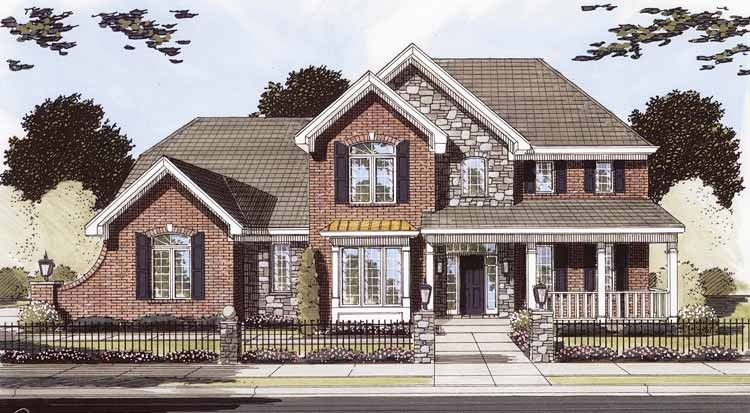 French Country House Plan with 2896 Square Feet and 4 Bedrooms from