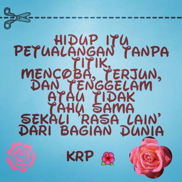 Life quote in Bahasa Indonesia.