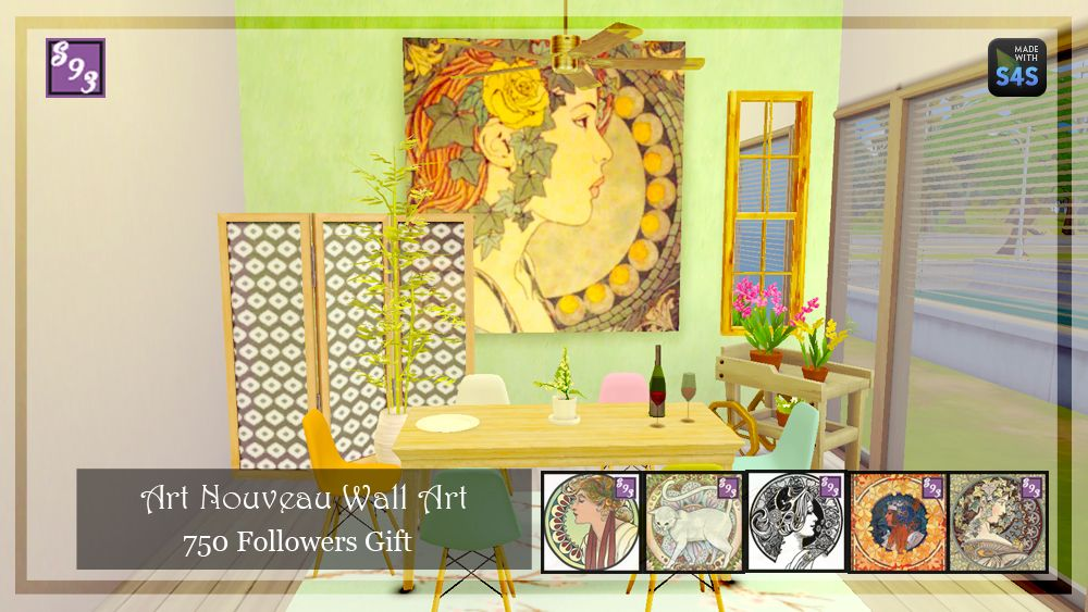 Shenice93 CC | 750+ Follower Gift - Large Art Collection 5...