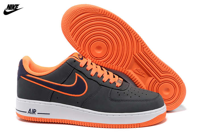 size 40 9f534 52043 Mens Nike Air Force One Low Basketball Shoes Dark Grey Imperial Blue-Total  Orange 488298-012,Nike-Air Force One Shoes Sale Online