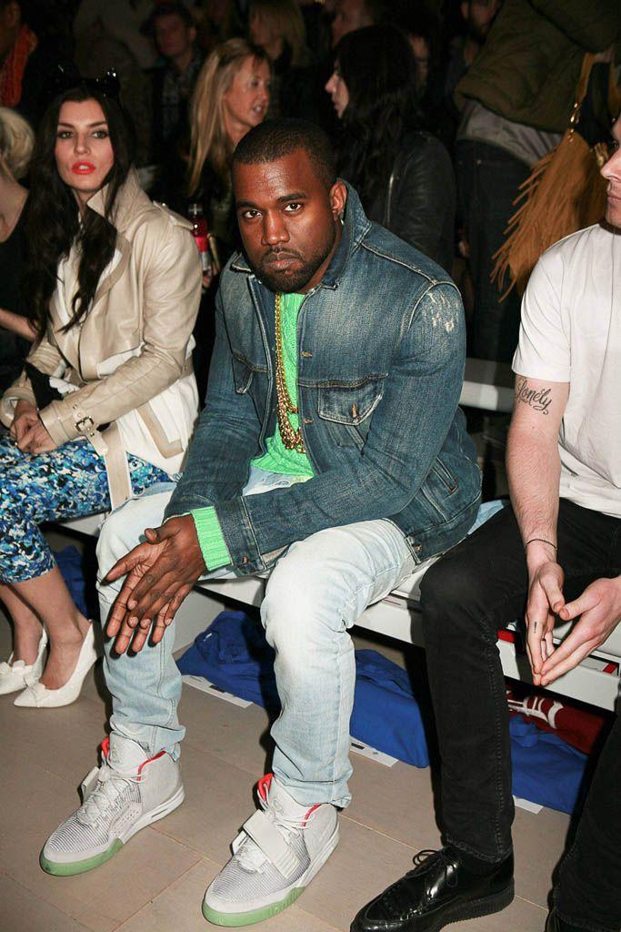 Kanye West Wearing Zen Grey Nike Air Yeezy 2 Kanye West Style Kanye Fashion Air Yeezy 2