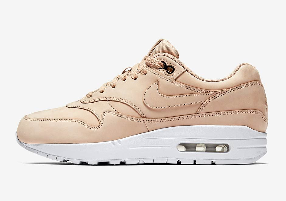 the latest 98d3e 18641 The Nike Air Max 1 gets dressed up for the ladies this fall, featured in a  premium construction of tonal nubuck upper with metallic details.