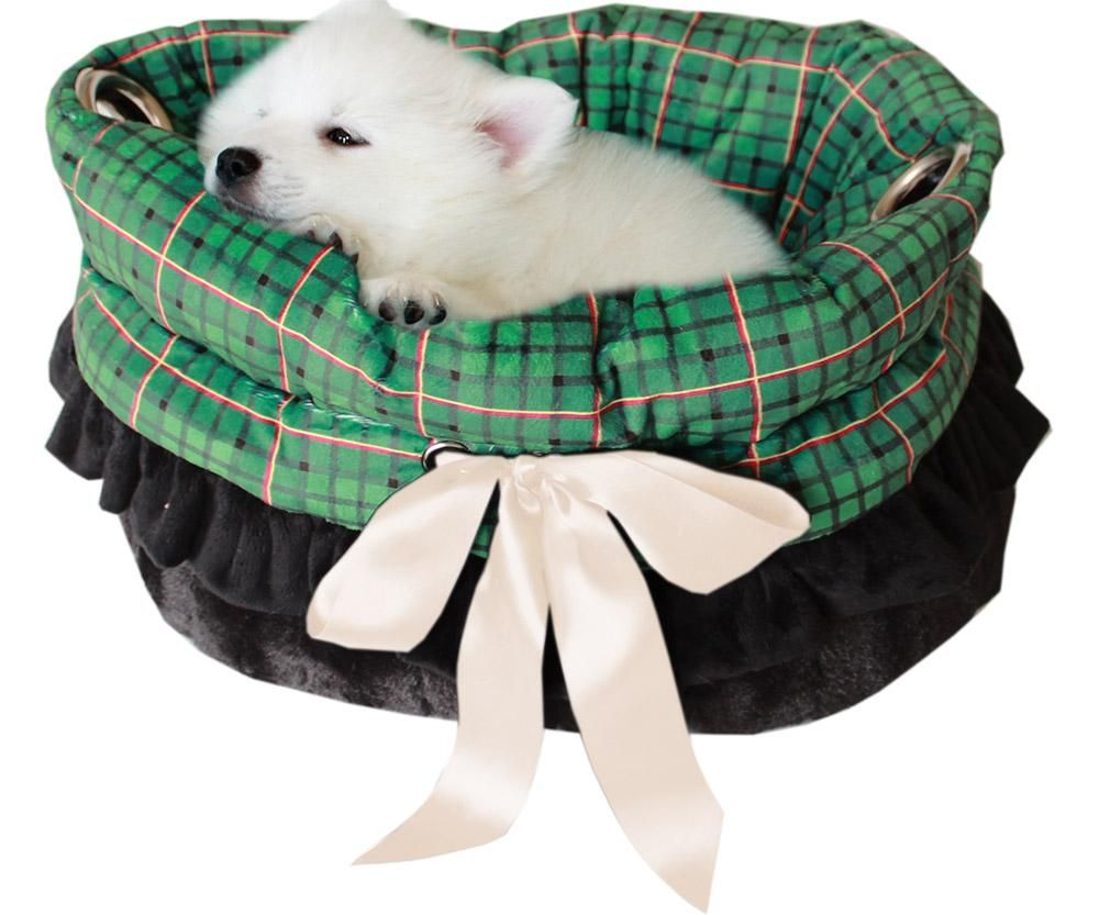 Plaid Reversable Snuggle Bugs Bed, Car Seat and Carrier
