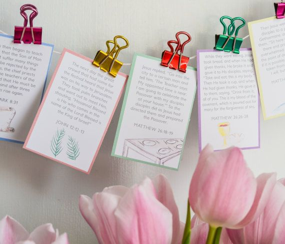 Download Pocket Verses EASTER | Handmade gifts, Easter, Place card ...
